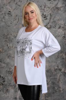Белая туника c принтом Натали
